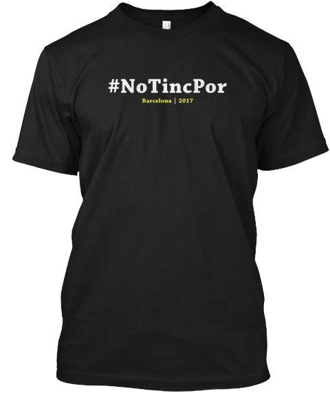 Barcelona We Are Not Afraid Tshirt Black T-Shirt Front