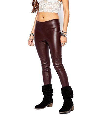 Free People Women's Vegan Leggings Oxblood Pants 6 X 27