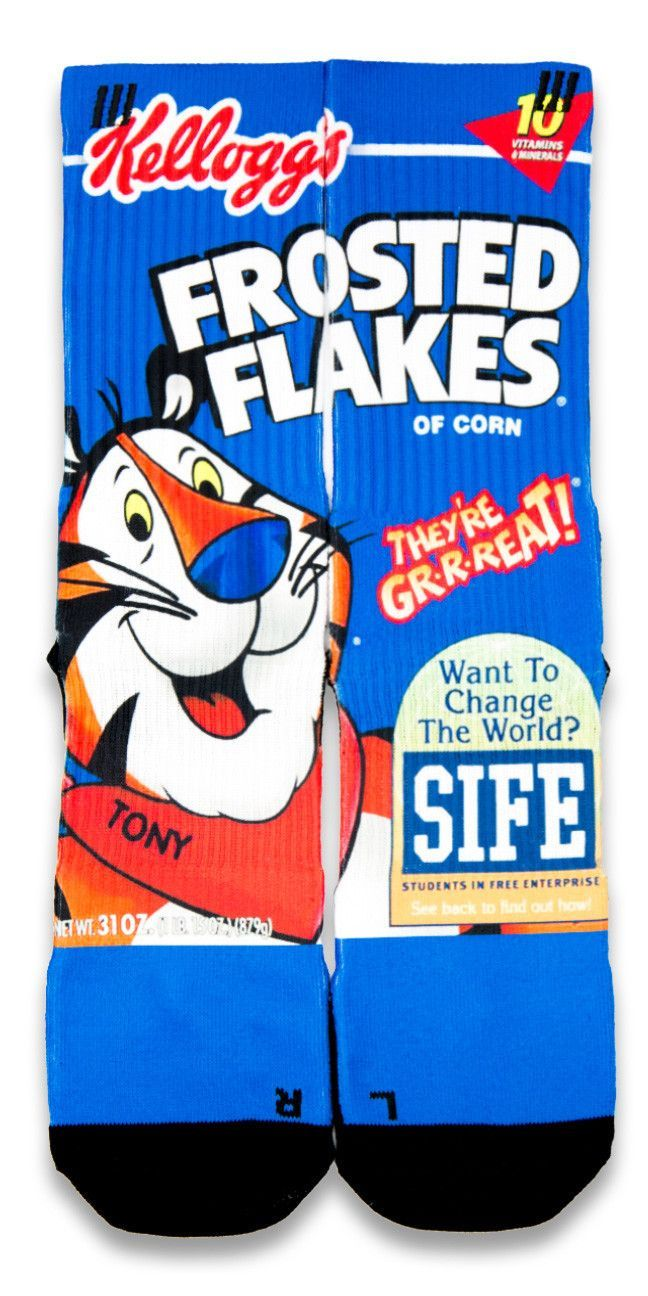 Frosted Flakes CES Custom Socks