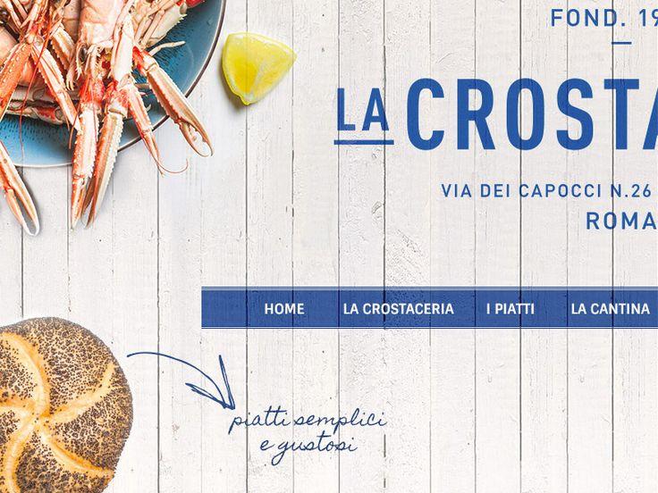 La Crostaceria - Restyling Website by Giorgia Vargas