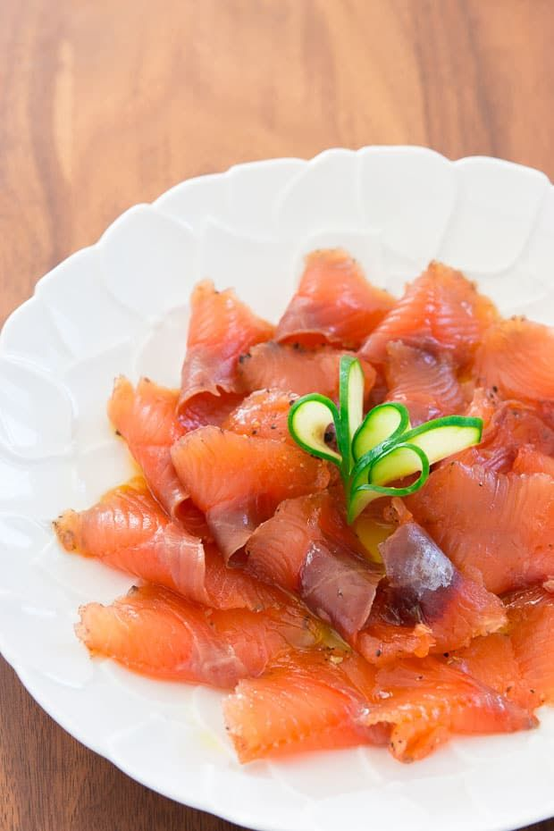 Easy dry-brine recipe for homemade lox which can be customized with your own blend of herbs and spices.