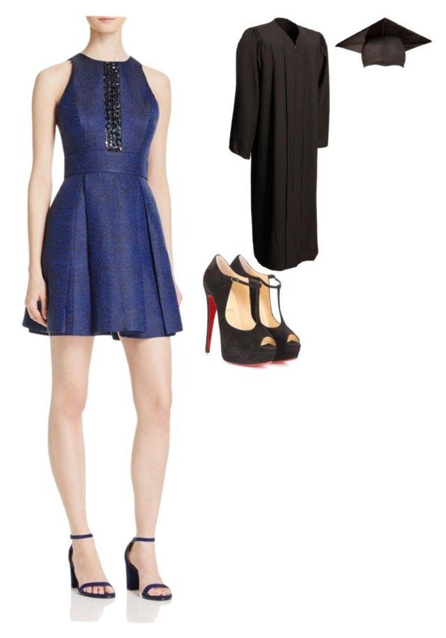 """""""Untitled #7"""" by tingram871 on Polyvore featuring JS Collections, Christian Louboutin and graduationdaydress"""