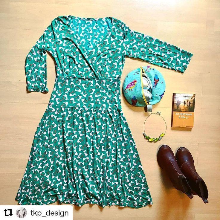 """""""Frühlings GRÜN!! ---ein absolut großartiges Kleid nach den Bausteinen des @rosap.de Buches #nähdirdeinkleid. Buch mit Schnittmuster erhältlich über www.rosape.de und im Buchhandel vor Ort."""