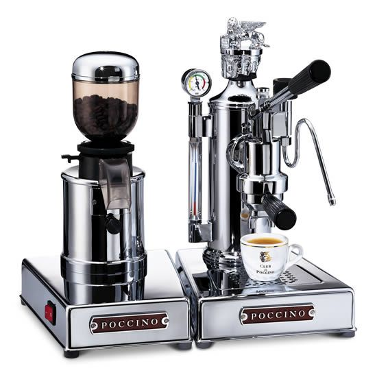 espresso machine with coffee grinder