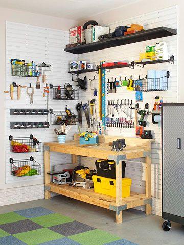 Ready to Work: Garage Organization, Garages, Garage Ideas, Garage Storage, Organization Ideas, Organized Garage
