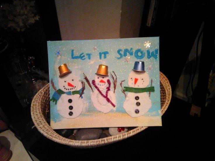 Snowmen- Let it snow- Kids' craft