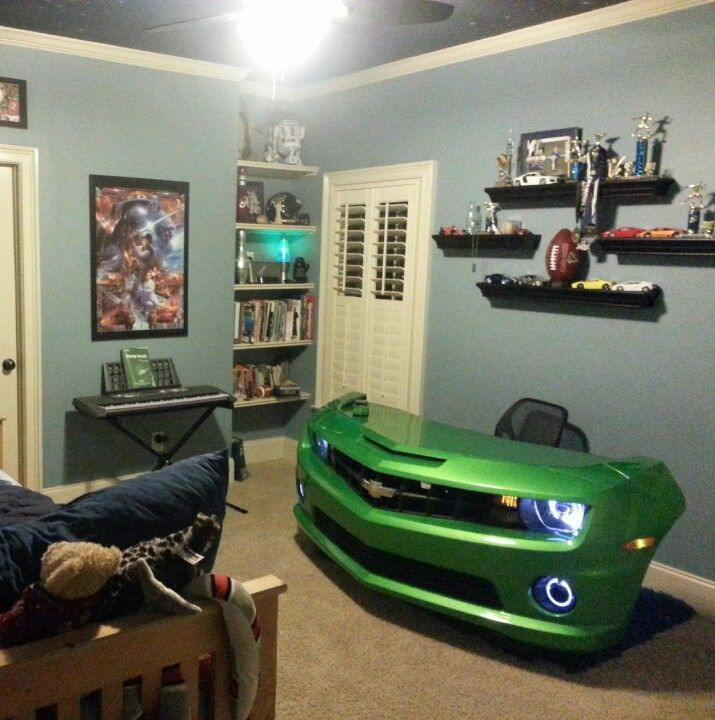 Custom camaro desk love love love this things i for Man cave desk