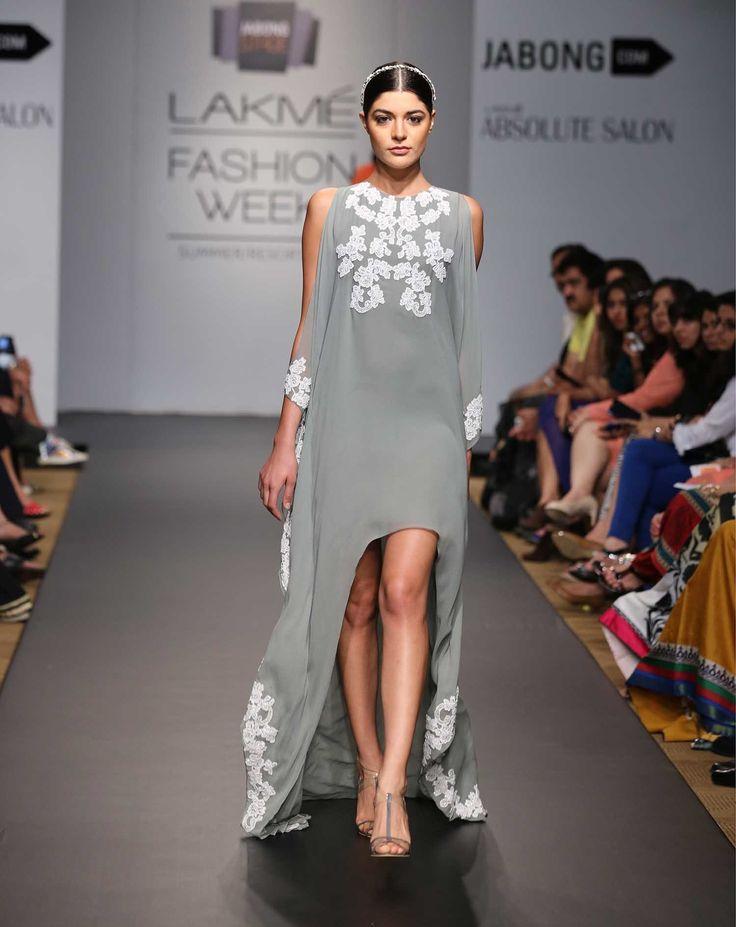 Bay Leaf Lace Kaftan Dress greywhiteKL11