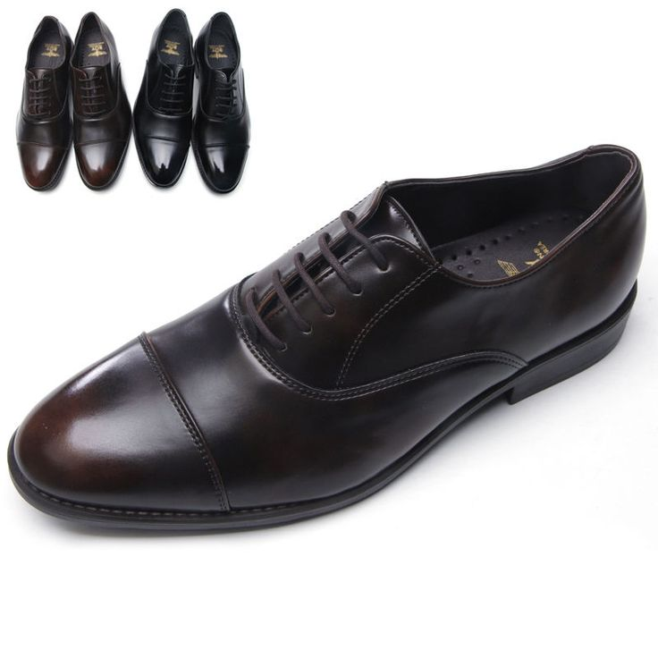 Mens synthetic leather Cap Toe lace up oxford korea made black brown dress shoes #Unbranded #Oxfords