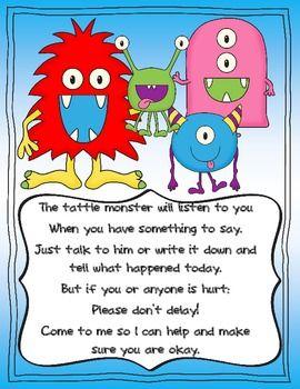 TATTLE MONSTER - TeachersPayTeachers.com