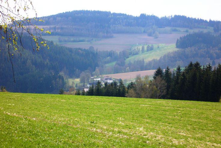 Springtime in Czech- Moravians highlands, near Jimramov