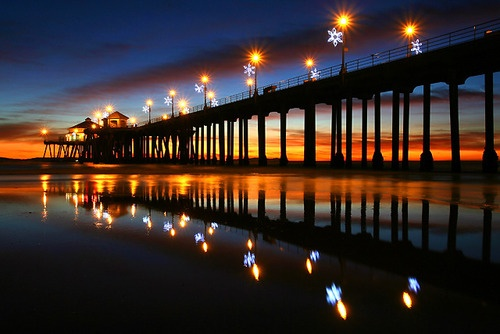 December Sunset, Huntington Beach Pier, California