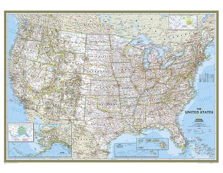 Buy united states map mural classic in large size world for Classic world map wall mural