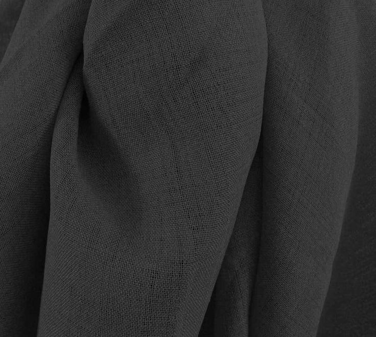 Drapery Upholstery Fabric Linen-Like Gauze Rustic Drapery Sheer Solid - Ebony