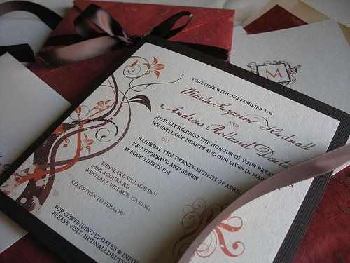 Elegant Diy Fall Wedding Invitations