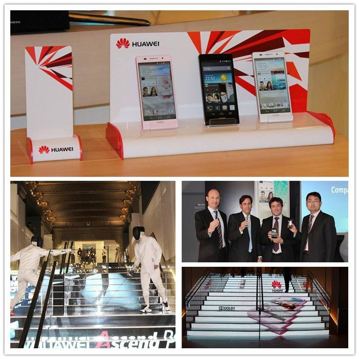 Telefónica and Huawei jointly introduced the new Huawei Ascend P6 during an event that took place in Telefónica's flagship store in Madrid. The flagship store was fully dressed up with images of the P6 and included an exhibition of fencers, that shocked the audience.