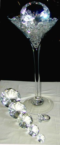Martini Glass Wedding Centerpieces