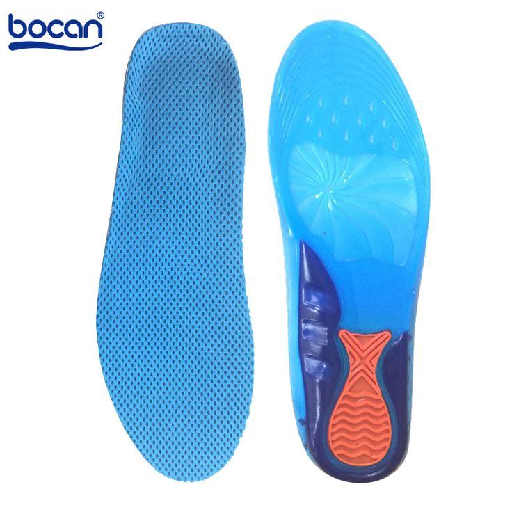 Bocan sportive gel solette Massaggiare Silicone Solette Deodorante Pad Ortopedia Fascite plantare Corsa solette di scarpe 2 formati 6631