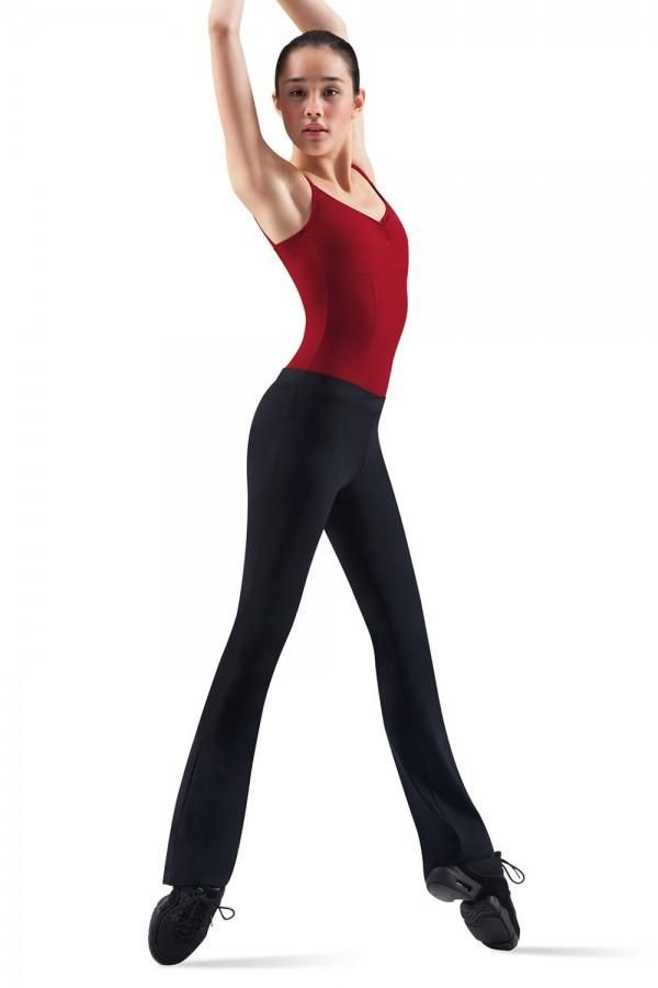 Bloch Black Lisa Full length Tactel V Front Jazz Pant