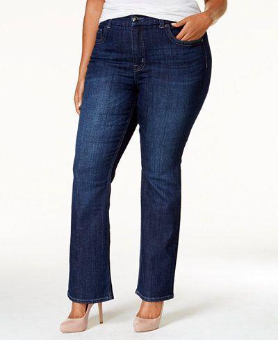 f39a3f5b0a329 Melissa McCarthy Seven7 Plus Size Gordon Wash Slim Bootcut Jeans ...