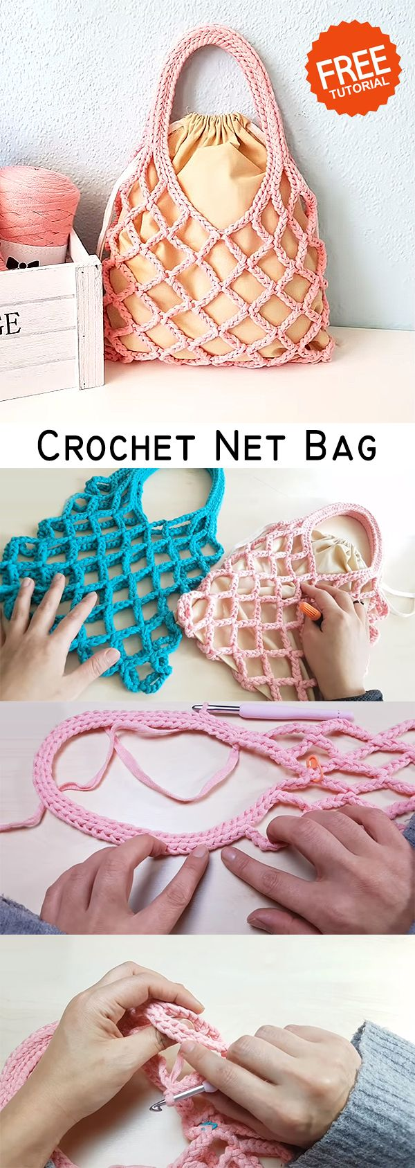 Crochet Net Bag – CROCHET-HUB