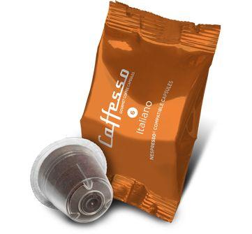 Caffesso Italiano. Exclusiva cápsula, 100% compatible con Nespresso.