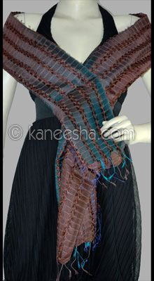 Ethnic Indian Silk Woven Stole
