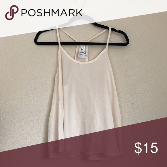 Cream Chiffon Strappy Top *not Topshop, listed for exposure Topshop Tops