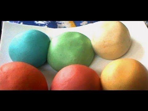 ▶ Como hacer Pasta de sal 3 ingredientes! Sustituto de arcilla polimerica - YouTube