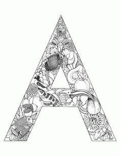 We4you2, Kleurplaten van Alfabet Dieren