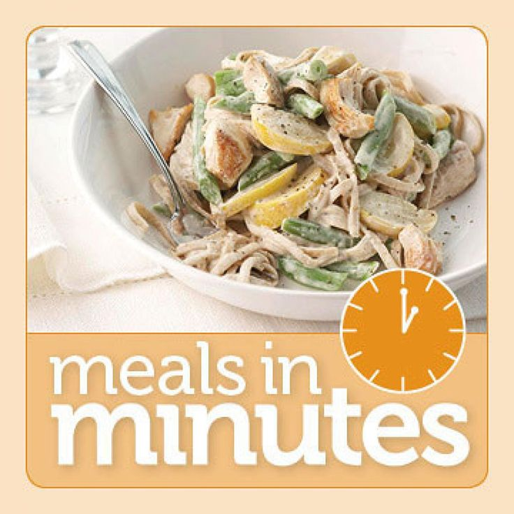 Save time when making breakfast, lunch, or dinner by starting with convenient purchased products. In return, you'll get a delicious 10-minute breakfast, 15-minute lunch, or 20-minute dinner made with healthier ingredients.