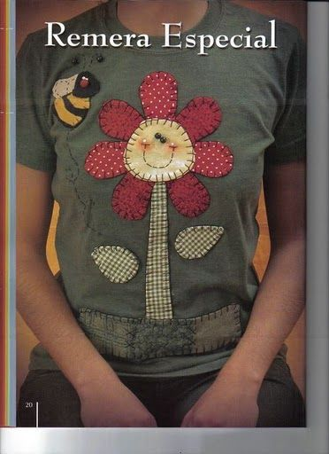 T-Shirt appliqué ...so.o.o cute!