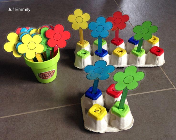 Bloemen in het juiste 'potje' steken (Juf Emmily)