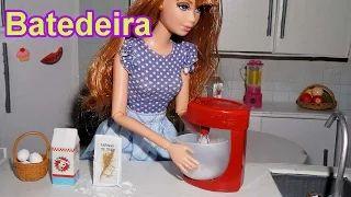 Como fazer uma batedeira para boneca Barbie, Monster High, Frozen e outras - YouTube