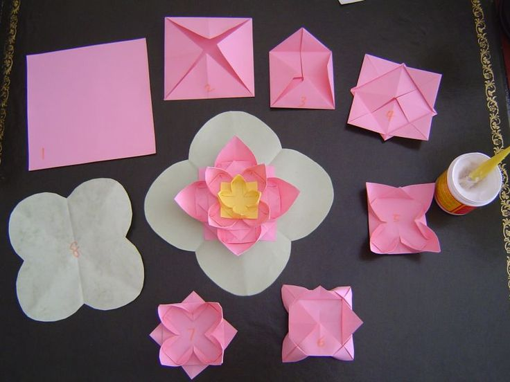 113 best origami images on pinterest diy origami creativity and how to fold a lotus origami flower mightylinksfo Choice Image