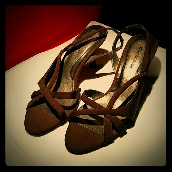 Comfy Heels Open toe, open back, open EVERYTHING! I love these babies!! Naturalizer Shoes Heels