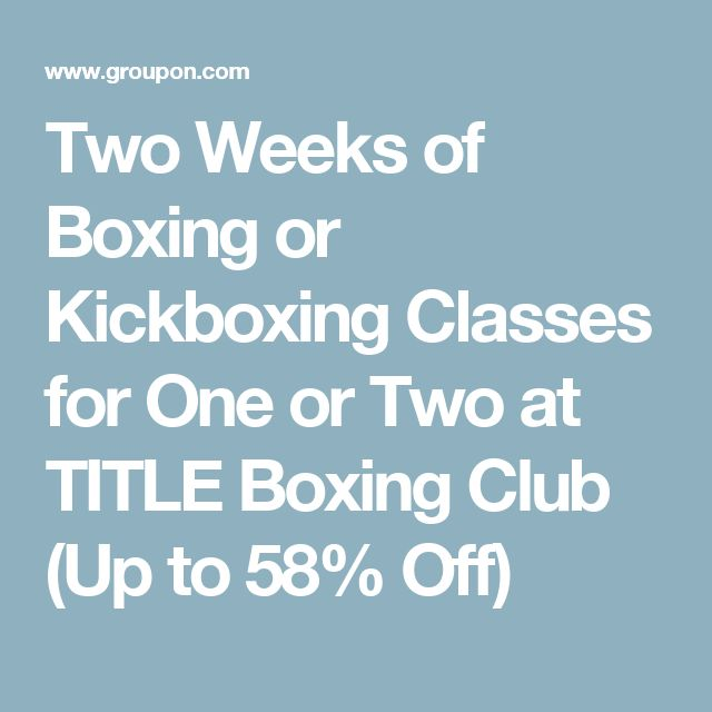 Two Weeks of Boxing or Kickboxing Classes for One or Two at TITLE Boxing Club (Up to 58% Off)