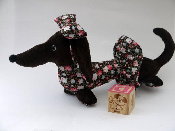 Dachshund. Toy Dachshund.Dressed Dachshund.Spring Dachshund.Easter gifts.Exclusively Handmade.