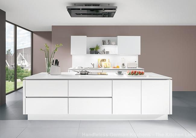 Handleless kitchens in london kent and uk flush fitting kitchen doors and drawer fronts the line n collection from nobilia at the kitchen link