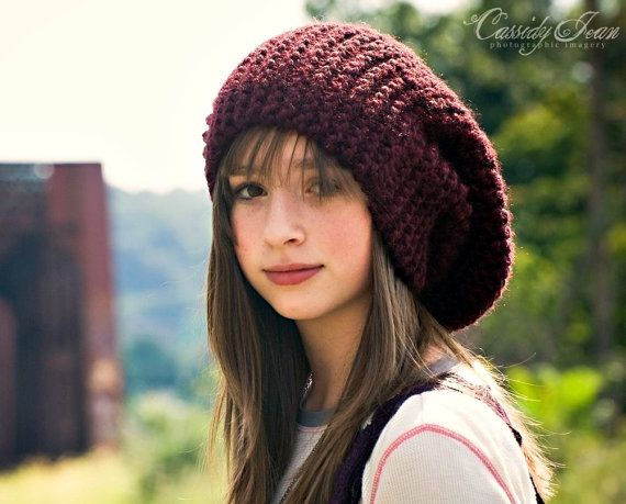 CIJ 10 Off  Hand Knit Hat  Women's Hat  The Slouch Hat by pixiebell, $63.00  Great for dreads!!