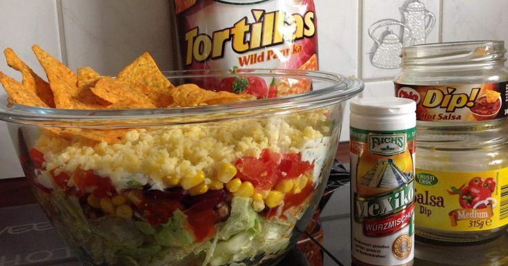 Taco Salat Mexikanischer Schichtsalat