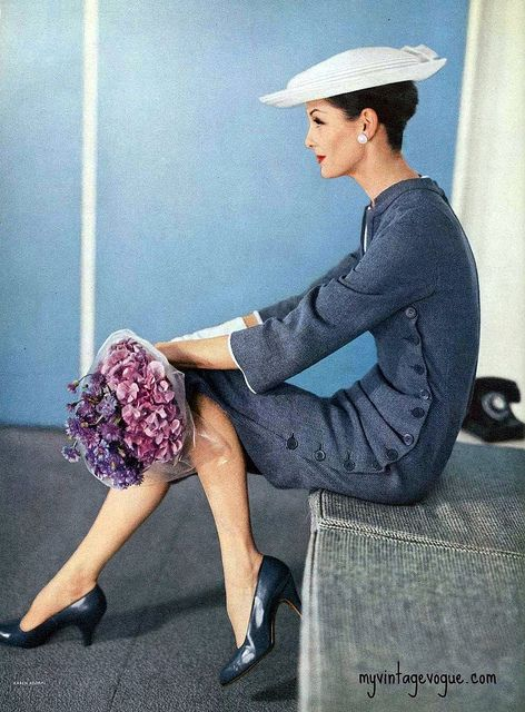 """Anne St. Marie"" Vogue Jan 1956 ~ Photo by Karen Radkai"