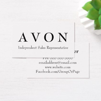 Avon Sales Representative White Business Cards - black and white gifts unique special b&w style