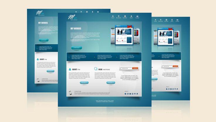 Photoshop Tutorial Web Design Venice Blue Portfolio