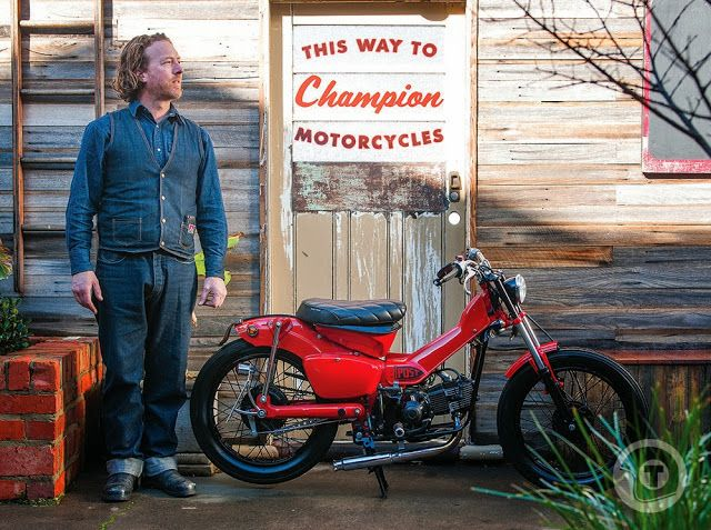 Ever considered an ex-postal service #Honda #CT110 as the base for a #custom build? Check out Jim Clarks Post Modern Motorcycles