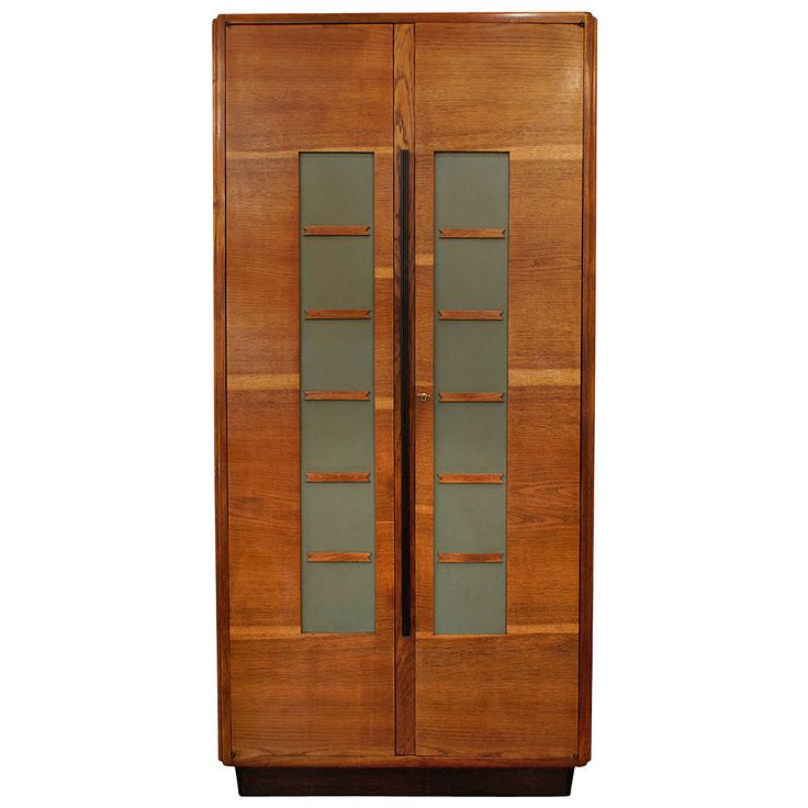 Italian Tall Modernist Oak Cupboard, by Cabellini & Co, Italy, circa 1930   From a unique collection of antique and modern cupboards at https://www.1stdibs.com/furniture/storage-case-pieces/cupboards/