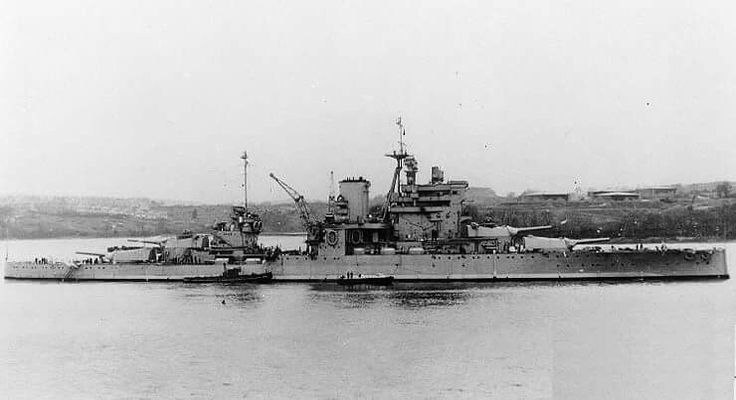 15 in battleship HMS Queen Elizabeth, name ship of her famous class, pictured as she appeared in WW2 after extensive modernisation: together with sister HMS Valiant she was severely damaged by an Italian two man chariot midget submarine in Alexandria harbour on 19th December 1941.