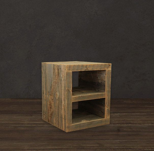 Reclaimed Wood Side Table/ Night Stand (325.00 USD) by AtlasWoodCo