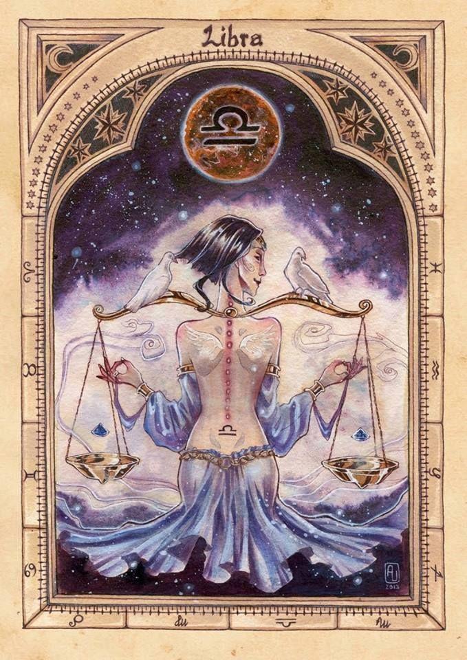 """""""A ti, Libra, dou a missão de unir os homens em torno da Minha Idéia. Tu despertarás o desejo da cooperação, por meio da capacidade de se colocar no lugar do outro e então sentir o que o outro sente. Estarás onde houver desavença, para que possas mostrar o valor do acordo e da justiça. E para que faças um bom trabalho, dou-te a provação da indolência para dominares e, como bênção, concedo-te o dom da paz."""""""