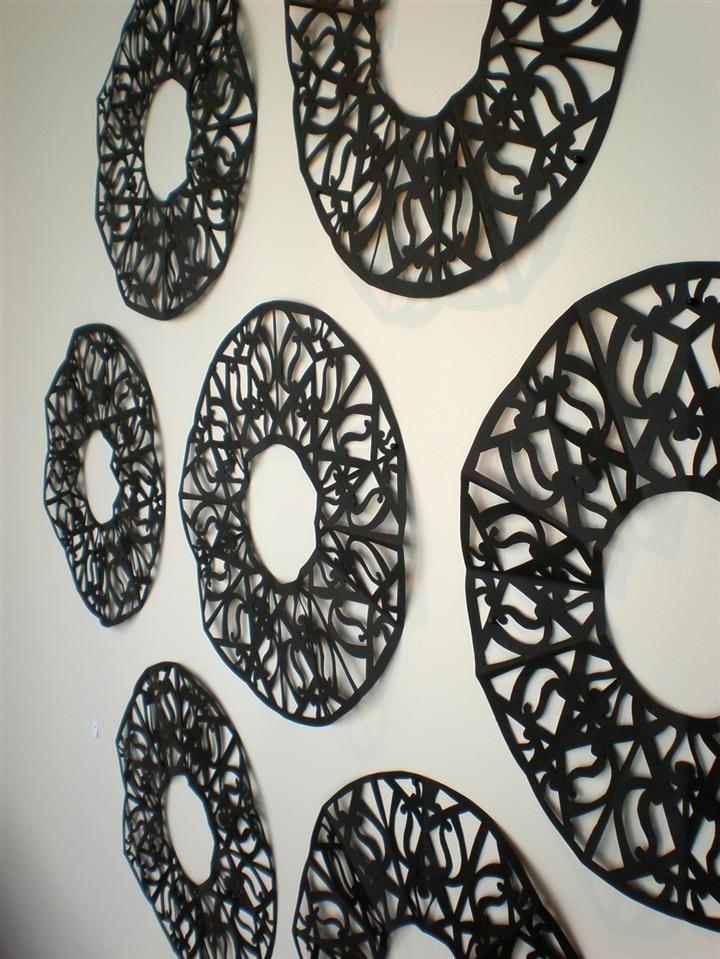 Black Circles (detail) by Lonnie Hutchinson
